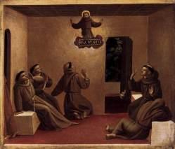 Angelico, apparizione di san francesco.