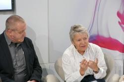 Dominique Manotti und Max Annas am Arte-Stand