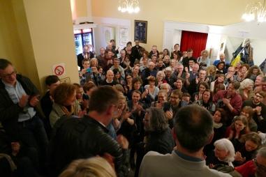 Der Saal des Volkstheaters am Rudolfplatz musste auf die Minute pünktlich geräumt werden