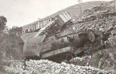 Palestine Railways, 1946 Sabotage, Khoury House, Haifa, Palestine [CC0], via Wikimedia Commons